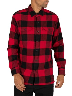 Levi's Jackson Worker Shirt - Bandurria Crimson Plaid