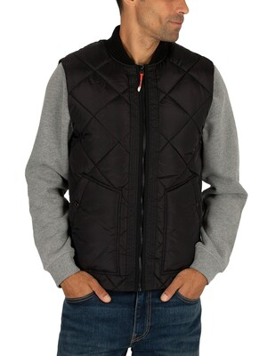 Scotch & Soda Quilted Gilet - Black
