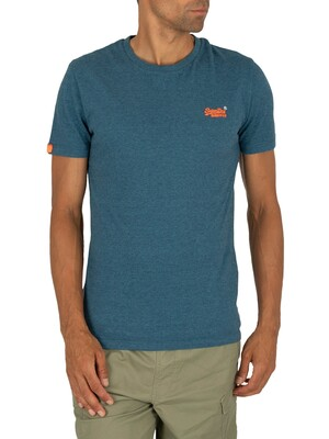 Superdry Orange Label Vintage Embroidery T-Shirt - Glacier Blue Feeder