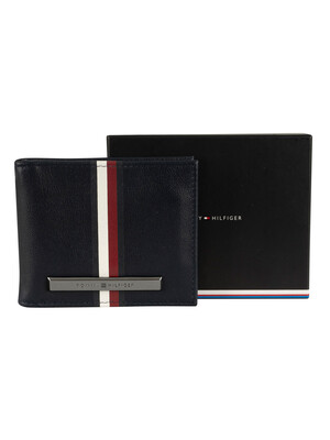Tommy Hilfiger Corporation Stripe Mini Money Wallet - Sky Captain