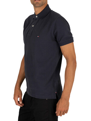 Tommy Hilfiger Placket Poloshirt - Sky Captain