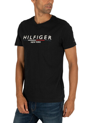 Tommy Hilfiger Underline T-Shirt - Jet Black