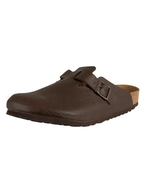 Birkenstock Boston BS Vegan Sandals - Espresso