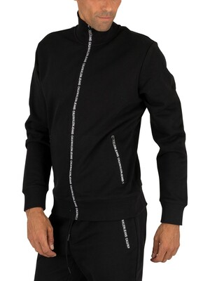 Calvin Klein Jeans Zip Track Jacket - Black Beauty