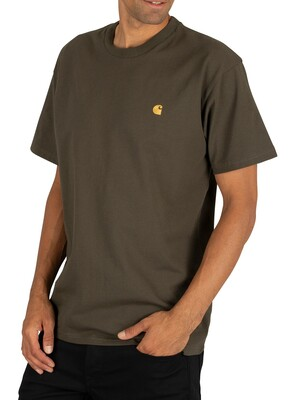 Carhartt WIP Chase T-Shirt - Cypress/Gold