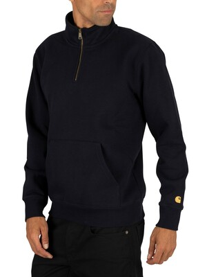 Carhartt WIP Chase Zip Jumper - Dark Navy/Gold