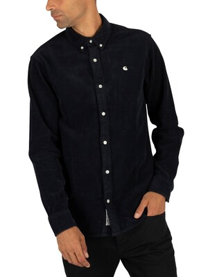 Carhartt WIP Madison Cord Shirt - Dark Navy