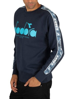 Diadora Graphic Offside Sweatshirt - Blue Denim