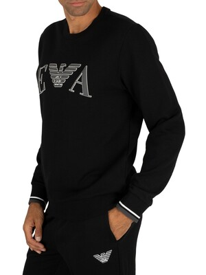 Emporio Armani Graphic Lounge Sweatshirt - Black