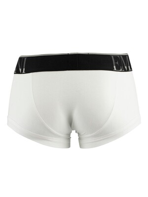 Emporio Armani Mega Logo Trunks - White