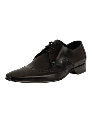 Jeffery West Escobar Leather Shoes - Black Polished