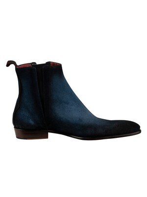 Jeffery West Suede Slip On Boots - Jeans Shadow