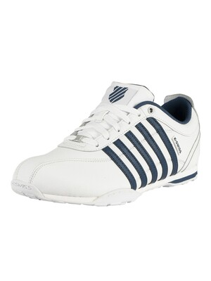 K-Swiss Arvee 1.5 Leather Trainers - White/Poseidon