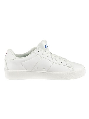 K-Swiss Court Casal Leather Trainers - White/White/Corporate