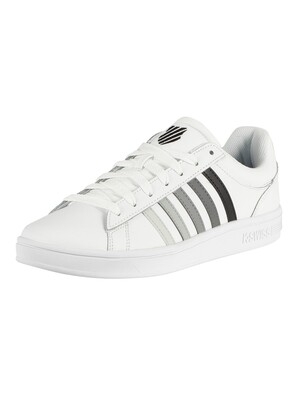 K-Swiss Court Winston Leather Trainers - White/Black Gradient