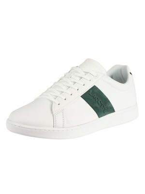 Lacoste Carnaby Evo 319 1 SMA Leather Trainers - White/Dark Green