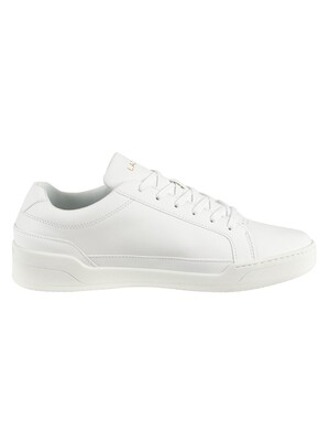 Lacoste Challenge 319 5 SMA Leather Trainers - White/White