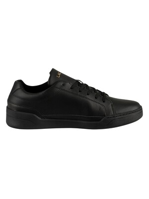 Lacoste Challenge 319 5 SMA Leather Trainers - Black/Black
