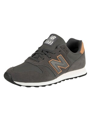 New Balance 373 Suede Trainers - Dark Grey