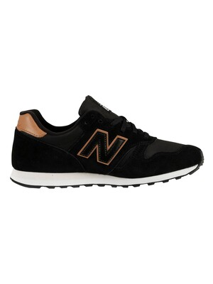 New Balance 373 Suede Trainers - Black