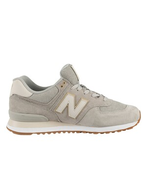 New Balance 574 Suede Trainers - Light Grey