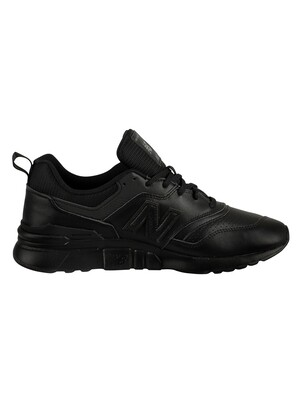New Balance 997H Leather Trainers - Black/Black