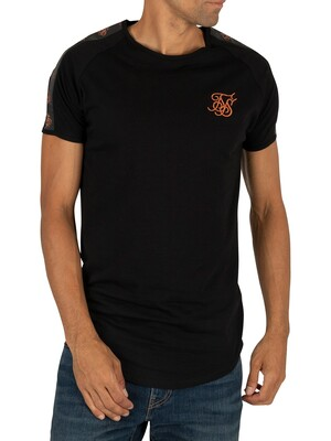 Sik Silk Tape Gym T-Shirt - Black/Rose Gold