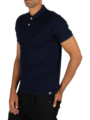 Superdry Classic Lite Micro Pique Polo Shirt - Midnight Navy