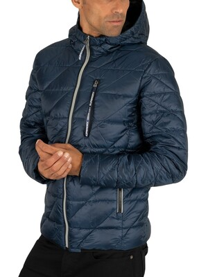 Superdry Diagonal Quilt Fuji Jacket - Lauren Navy