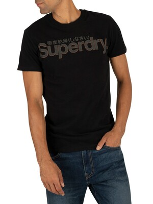 Superdry Retro Sport Tonal T-Shirt - Black