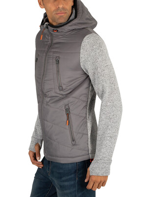 Superdry Storm Hybrid Jacket - Silver Heather Marl