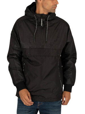 Superdry Surplus Pop Over Hooded Jacket - Jet Black