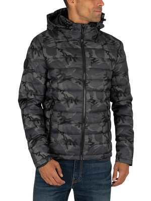 Superdry Tweed Double Zip Fuji Jacket - Grey Camo