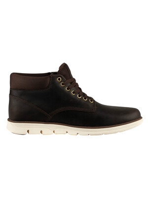 Timberland Bradstreet Chukka Leather Boots - Dark Brown Full Grain