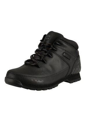 Timberland Euro Sprint Mid Hiker Boots - Black Tectuff