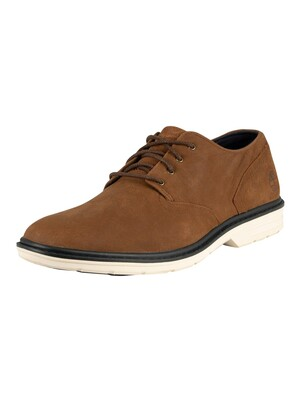 Timberland Sawyer Lane Oxford Leather Shoes - Rust Nubuck