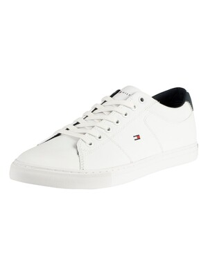 Tommy Hilfiger Essential Collar Leather Trainers - White