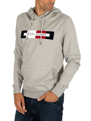 Tommy Hilfiger Logo Pullover Hoodie - Cloud Heather