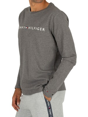 Tommy Hilfiger Longsleeved Graphic T-Shirt - Dark Grey Heather