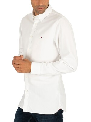 Tommy Hilfiger Slim 4 Way Stretch Slim Shirt - Bright White