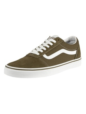 Vans Ward Suede Canvas Trainers - Beech/White