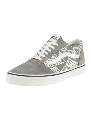 Vans Ward Suede Trainers - Frost Grey/White