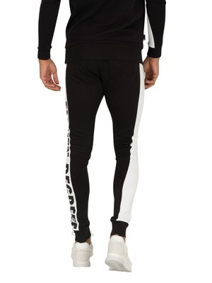 11 Degrees Odin Text Skinny Fit Joggers - Black