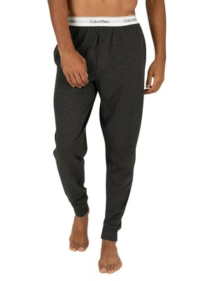 Calvin Klein Logo Pyjama Bottoms - Charcoal Heather
