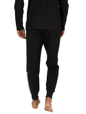 Calvin Klein Logo Pyjama Bottoms - Black