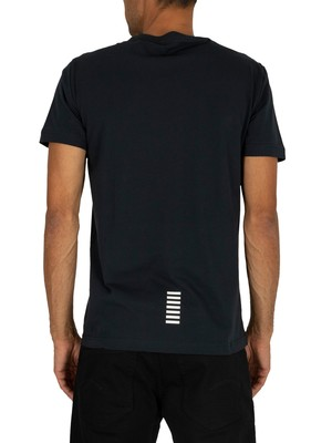 EA7 Chest Logo T-Shirt - Night Blue