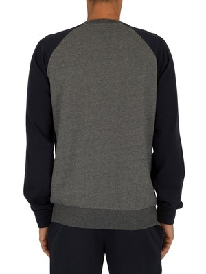 Emporio Armani Graphic Sweatshirt - Dark Grey Melange