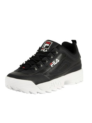 Fila Disruptor II No-Sew Trainers - Black/White/Red