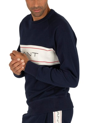 Gant Archive Sweatshirt - Evening Blue