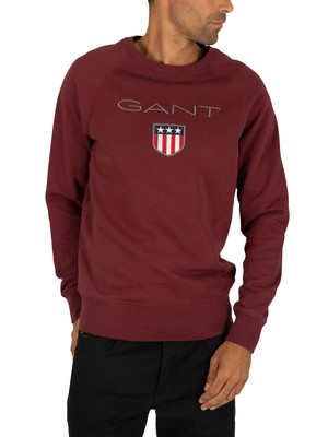 Gant Shield Sweatshirt - Port Red